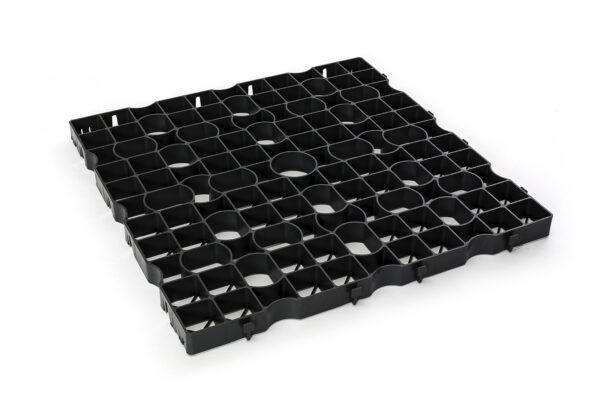 ECCOdal grastegel 80x80x4 cm Zwart