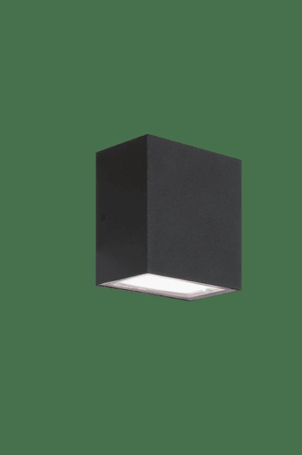 Eclipse square up/down Zwart 12v