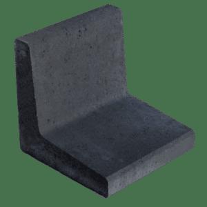 L-element 40x40x40 cm Antraciet