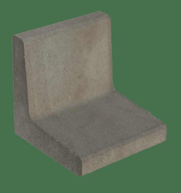 L-element 40x40x40 cm Grijs