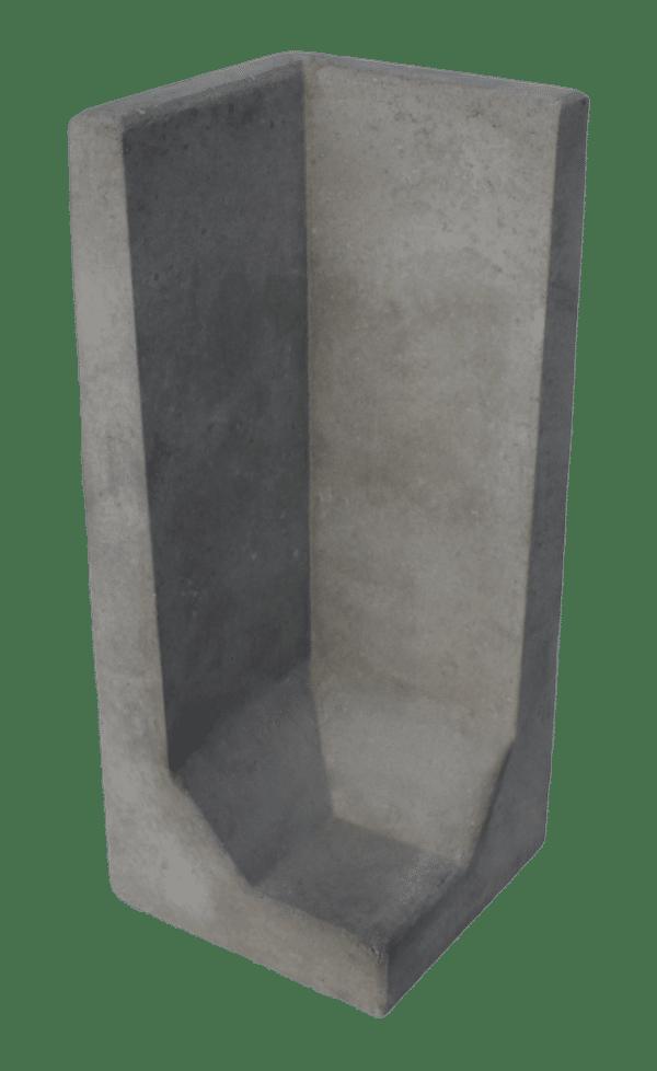 L-hoekelement 100x40x40 cm Grijs