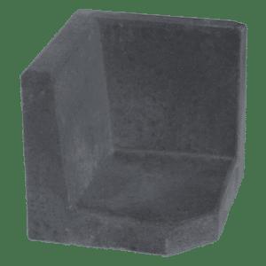 L-hoekelement 40x40x40 cm Antraciet
