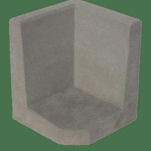 L-hoekelement 50x40x40 cm Grijs