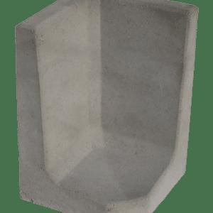 L-hoekelement 60x40x40 cm Grijs