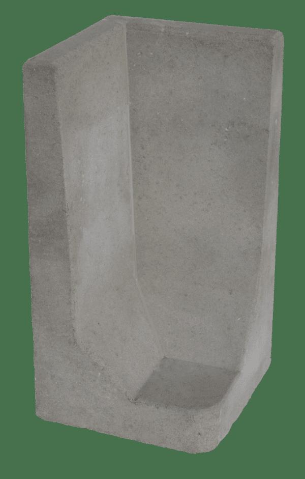 L-hoekelement 80x40x40 cm Grijs