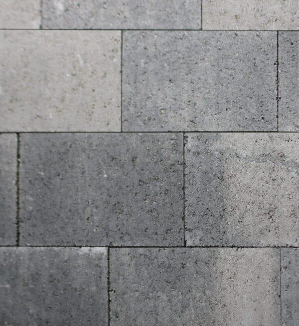 Metro Vlaksteen 30x20x4 cm Grijs-zwart
