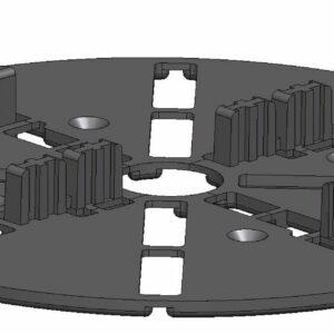 Spacer 3 vaste tegeldrager kunststof 4 mm